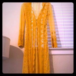 Got you on my mind kimono yellow fashion nova lace